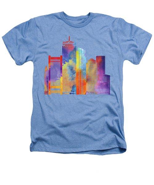 Boston Landmarks Watercolor Poster Heathers T-Shirt by Pablo Romero