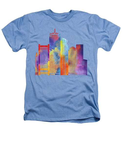 Boston Landmarks Watercolor Poster Heathers T-Shirt