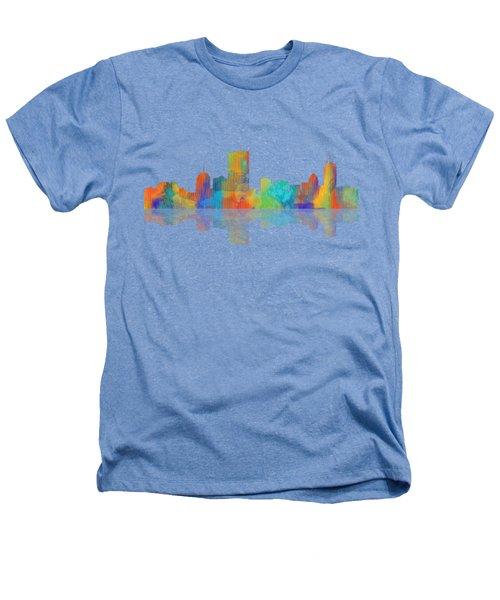 Boston Ma. Skyline Heathers T-Shirt by Marlene Watson