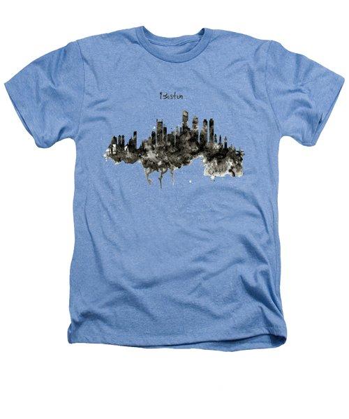 Boston Skyline Black And White Heathers T-Shirt