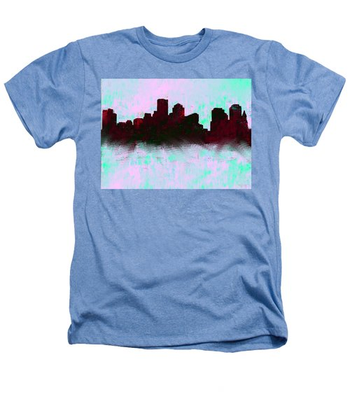Boston Skyline Sky Blue  Heathers T-Shirt