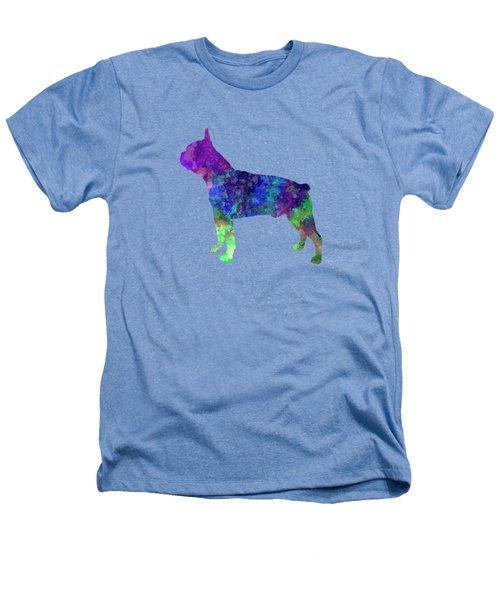 Boston Terrier 02 In Watercolor Heathers T-Shirt by Pablo Romero
