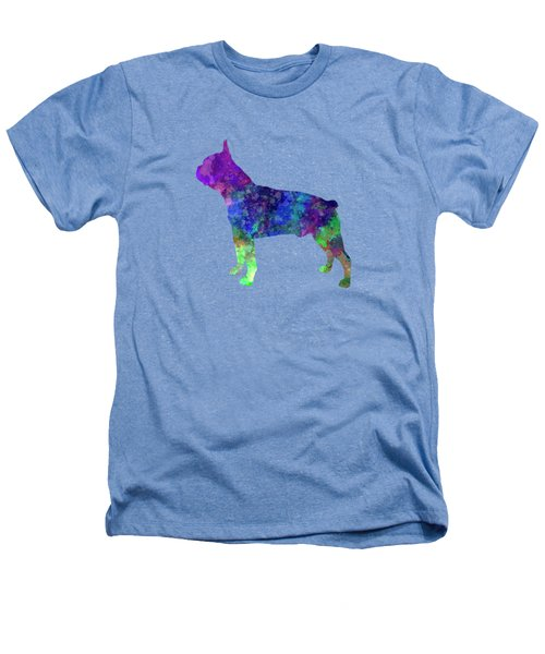 Boston Terrier 02 In Watercolor Heathers T-Shirt