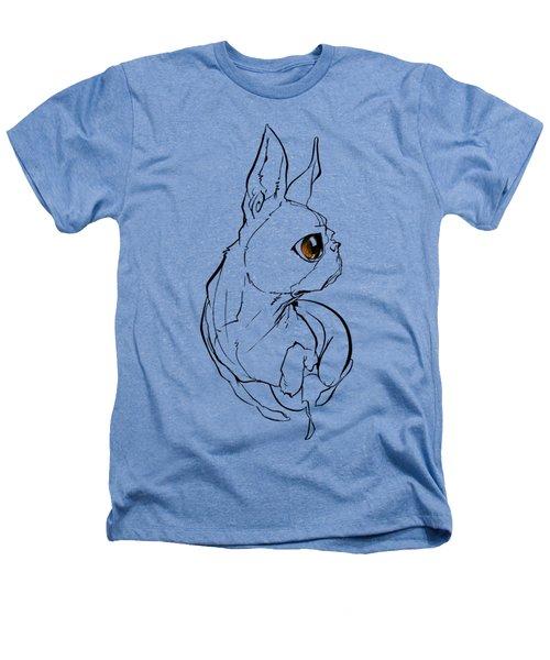 Boston Terrier Gesture Sketch Heathers T-Shirt
