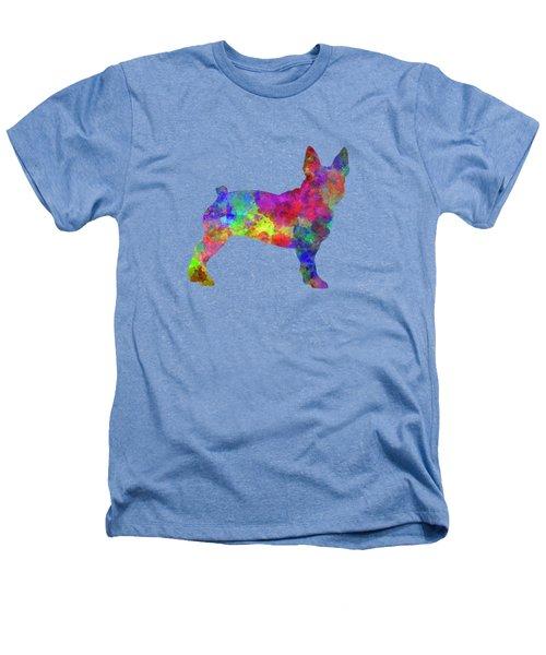Boston Terrier 01 In Watercolor Heathers T-Shirt