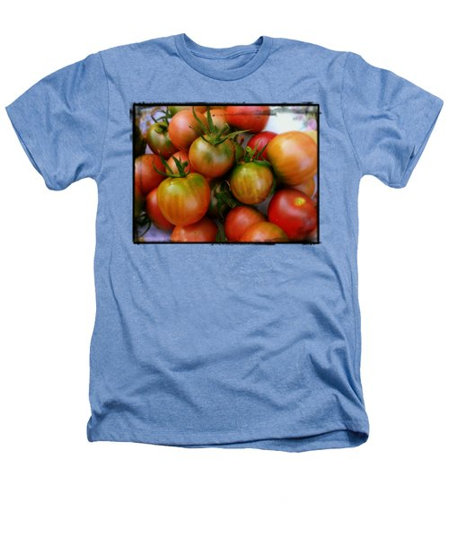Bowl Of Heirloom Tomatoes Heathers T-Shirt by Kathy Barney