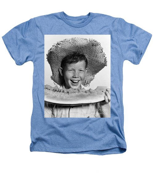 Boy Eating Watermelon, C.1940-50s Heathers T-Shirt by H. Armstrong Roberts/ClassicStock