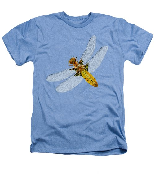 Broad-bodied Chaser Yellow Dragonfly Heathers T-Shirt