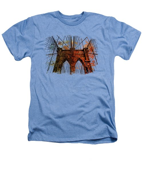 Brooklyn Bridge Art 1 Heathers T-Shirt by Di Designs