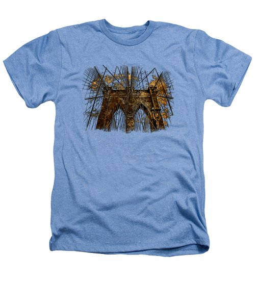 Brooklyn Bridge Earthy 3 Dimensional Heathers T-Shirt by Di Designs