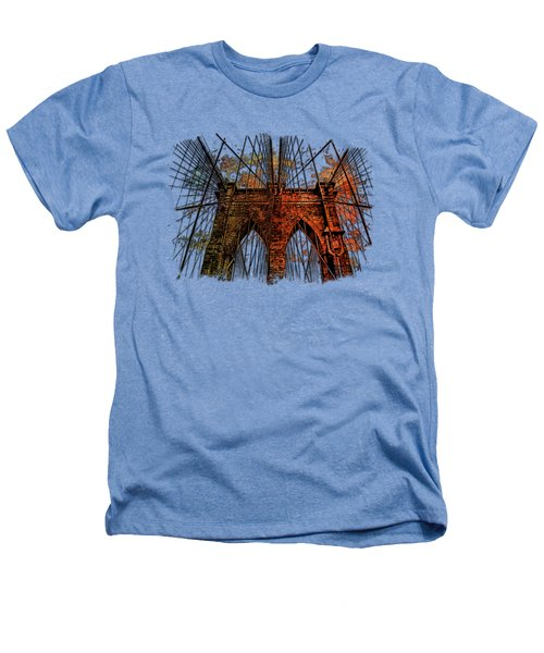 Brooklyn Bridge Earthy Rainbow 3 Dimensional Heathers T-Shirt by Di Designs
