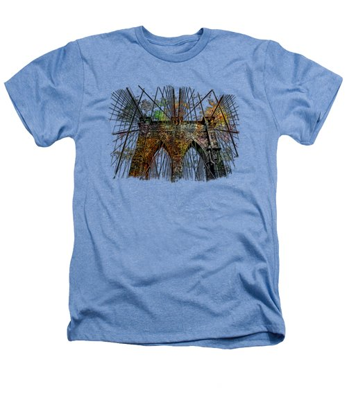 Brooklyn Bridge Muted Rainbow 3 Dimensional Heathers T-Shirt by Di Designs