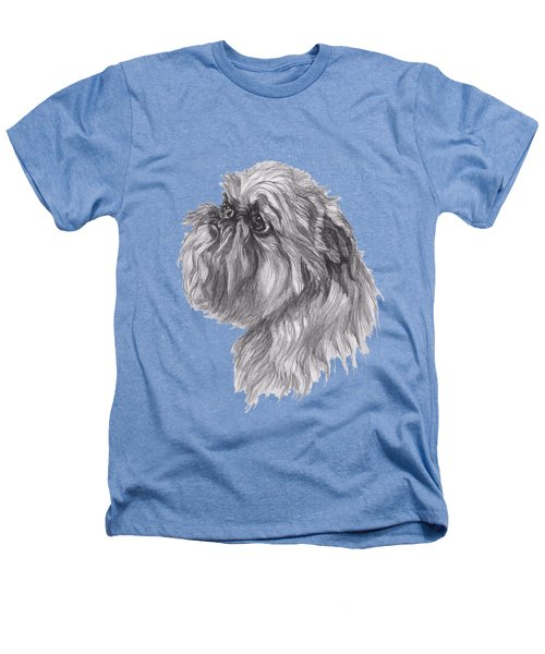 Brussels Griffon Dog Portrait  Drawing Heathers T-Shirt by I Am Lalanny