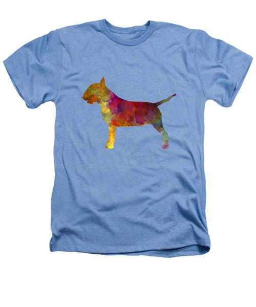 Bull Terrier In Watercolor Heathers T-Shirt by Pablo Romero