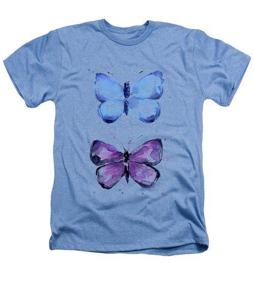 Butterflies Blue And Purple  Heathers T-Shirt