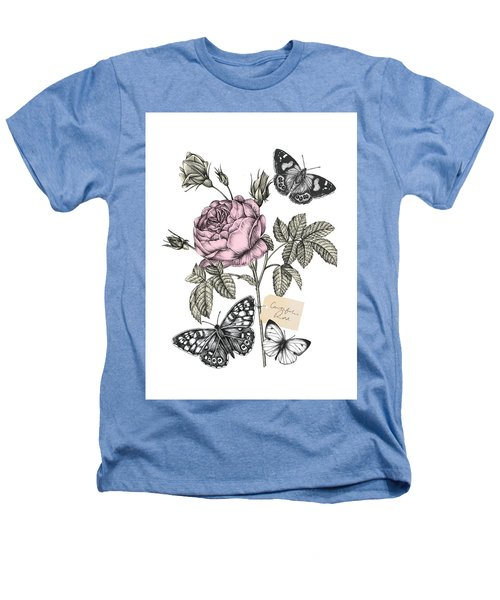 Cabbage Rose Heathers T-Shirt by Stephanie Davies