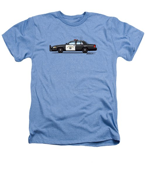 California Highway Patrol Ford Crown Victoria Police Interceptor Heathers T-Shirt by Monkey Crisis On Mars