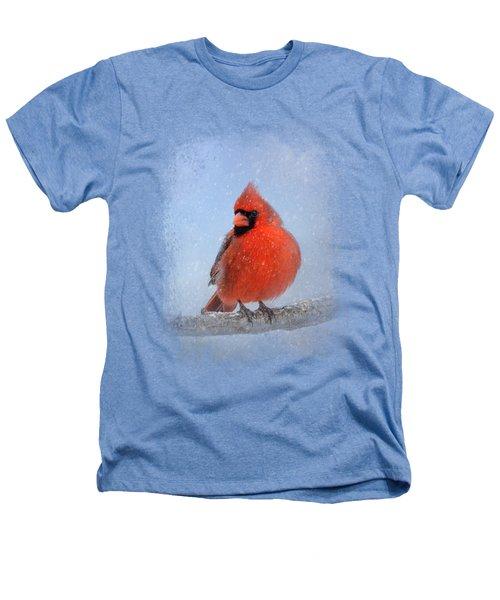 Cardinal In The Snow Heathers T-Shirt by Jai Johnson