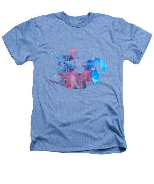 Cat On Goat Skull Heathers T-Shirt