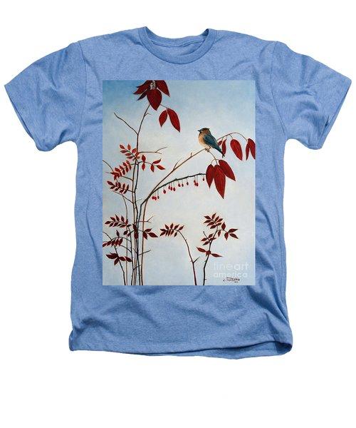 Cedar Waxwing Heathers T-Shirt by Laura Tasheiko
