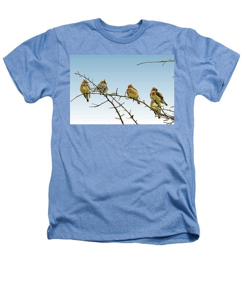 Cedar Waxwings Heathers T-Shirt by Geraldine Scull