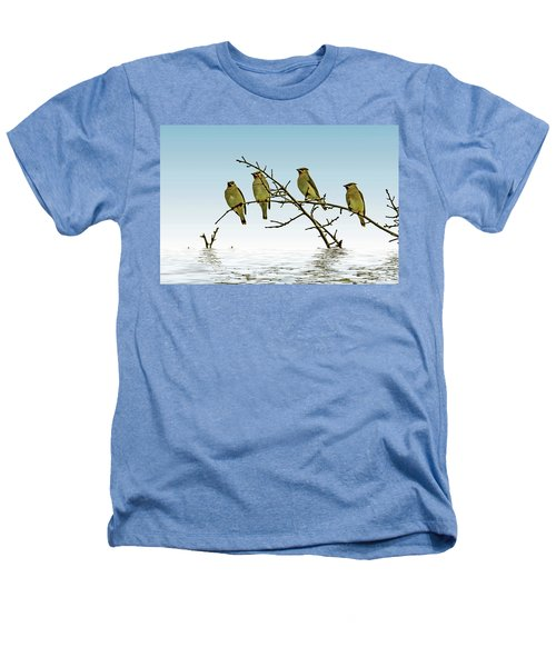 Cedar Waxwings On A Branch Heathers T-Shirt by Geraldine Scull