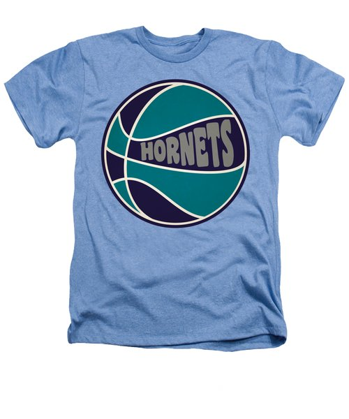 Charlotte Hornets Retro Shirt Heathers T-Shirt by Joe Hamilton