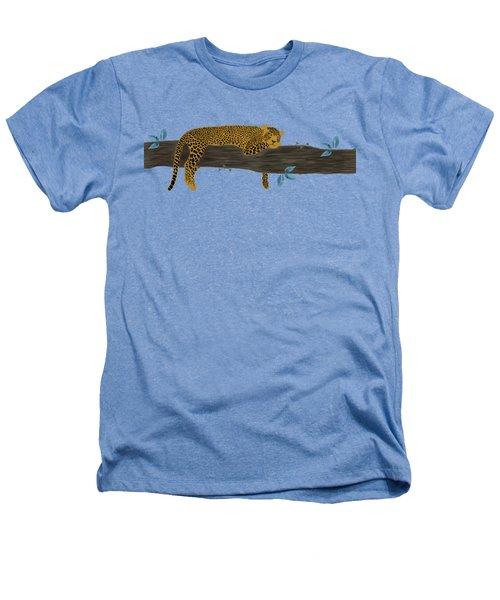 Cheetah Chill Heathers T-Shirt by Priscilla Wolfe