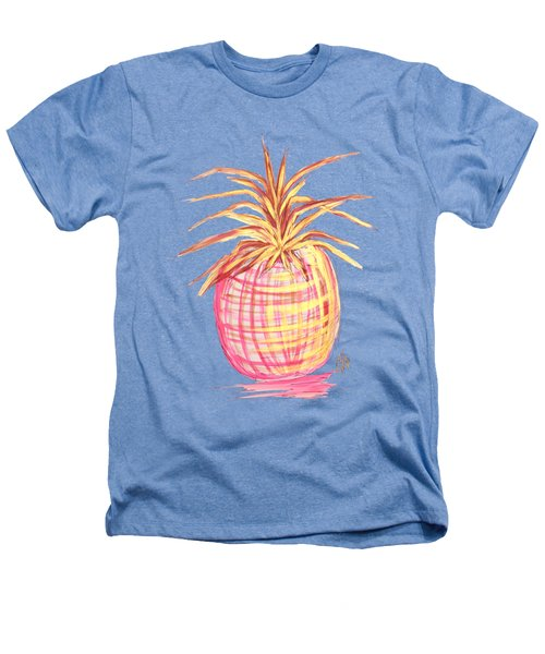 Chic Pink Metallic Gold Pineapple Fruit Wall Art Aroon Melane 2015 Collection By Madart Heathers T-Shirt by Megan Duncanson