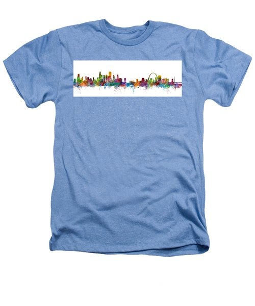 Chicago And St Louis Skyline Mashup Heathers T-Shirt by Michael Tompsett