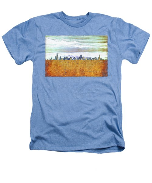 Chicago Skyline Heathers T-Shirt by Di Designs
