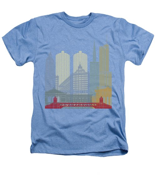Chicago Skyline Poster Heathers T-Shirt by Pablo Romero