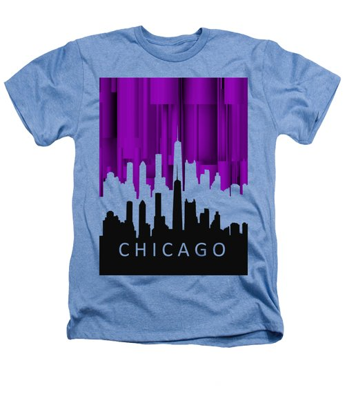 Chicago Violet In Negative Heathers T-Shirt