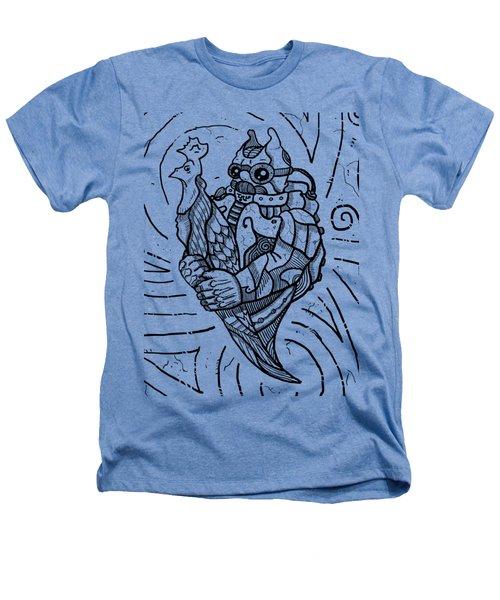 Chicken Master Heathers T-Shirt by Sotuland Art