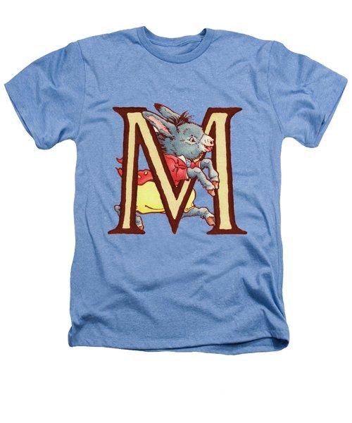Children's Letter M Heathers T-Shirt by Andrea Richardson