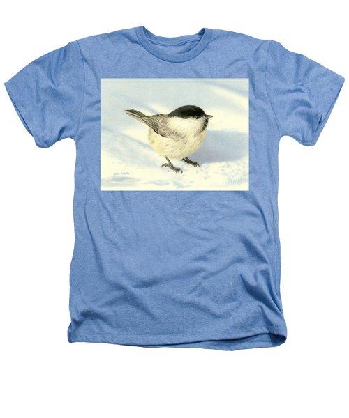 Chilly Chickadee Heathers T-Shirt by Sarah Batalka