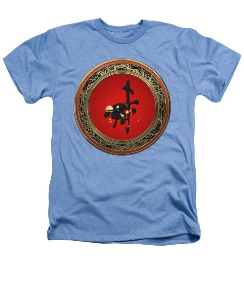 Chinese Zodiac - Year Of The Goat On White Leather Heathers T-Shirt