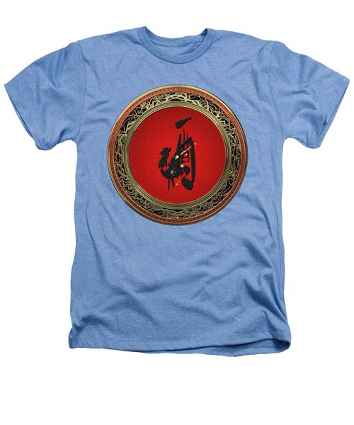 Chinese Zodiac - Year Of The Rooster On White Leather Heathers T-Shirt