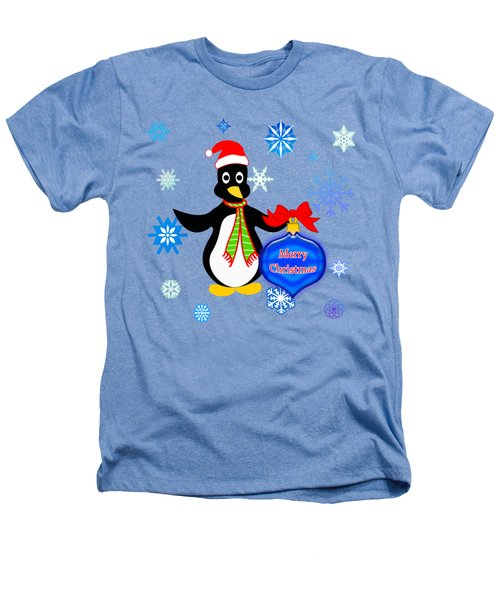 Christmas Penguin Heathers T-Shirt by Methune Hively
