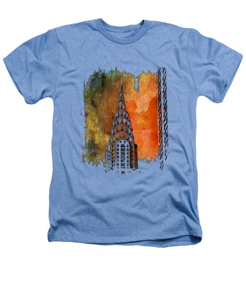 Chrysler Spire Earthy Rainbow 3 Dimensional Heathers T-Shirt by Di Designs