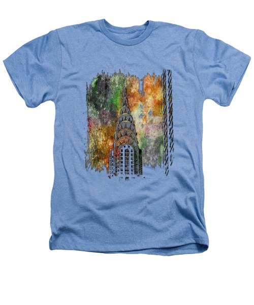 Chrysler Spire Muted Rainbow 3 Dimensional Heathers T-Shirt by Di Designs