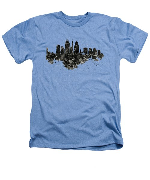 Cincinnati Skyline Black And White Heathers T-Shirt