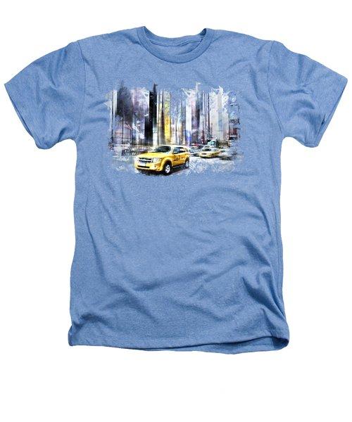 City-art Times Square II Heathers T-Shirt by Melanie Viola