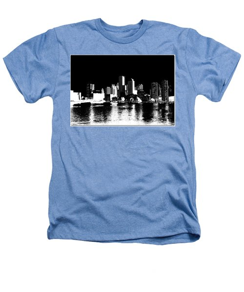 City Of Boston Skyline   Heathers T-Shirt