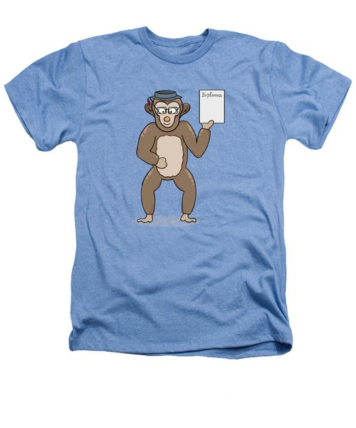 Clever Monkey With Diploma Heathers T-Shirt