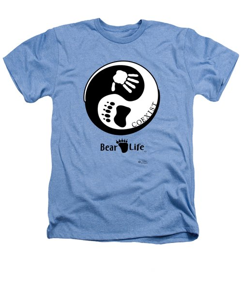 Coexist-yin Yang Bear Life Heathers T-Shirt