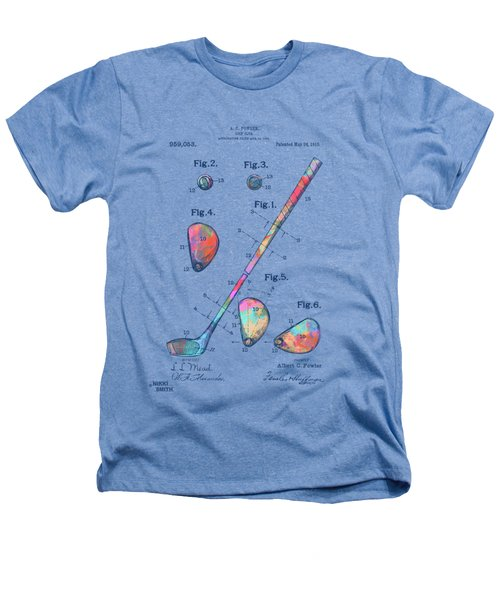 Colorful 1910 Golf Club Patent Heathers T-Shirt