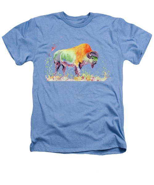 Colorful American Buffalo Heathers T-Shirt by Melly Terpening
