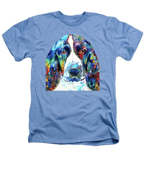 Colorful English Springer Spaniel Dog By Sharon Cummings Heathers T-Shirt