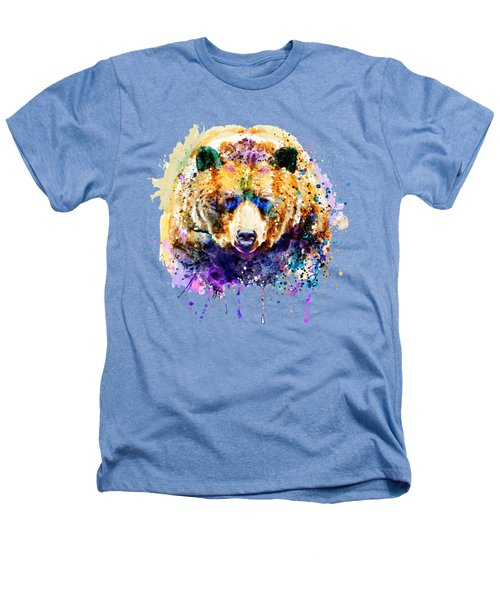 Colorful Grizzly Bear Heathers T-Shirt